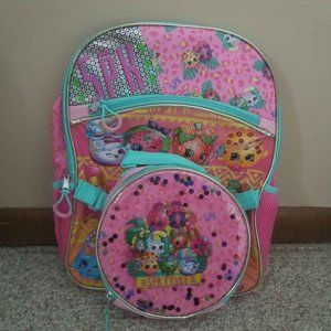 NEW SHOPKINS BACKPACK LUNCH BOX COMBO